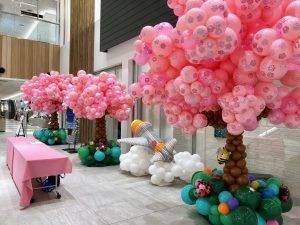 オープニングイベント装飾 桜の木